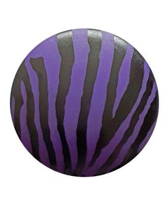 polyamidbutton  animal print with shank - Size: 20mm - Color: lilac - Art.No. 313816