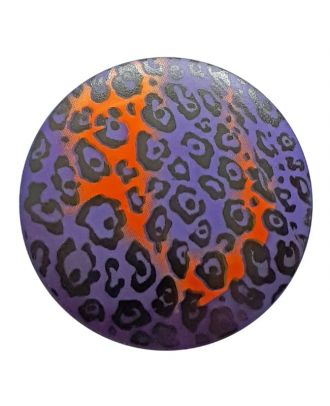 polyamidbutton  animal print with shank - Size: 28mm - Color: lilac - Art.No. 363808