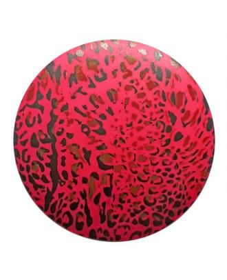 polyamidbutton  animal print with shank - Size: 20mm - Color: rose/pink - Art.No. 313827