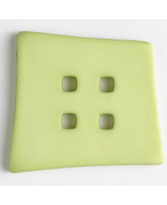 plastic button with 4 holes - Size: 55mm - Color: green - Art.No. 405504