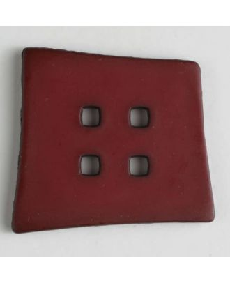 plastic button with 4 holes - Size: 55mm - Color: red - Art.No. 405506