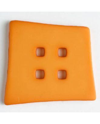 plastic button with 4 holes - Size: 55mm - Color: orange - Art.No. 405507