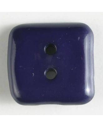 plastic button, square - Size: 20mm - Color: lilac - Art.No. 267502