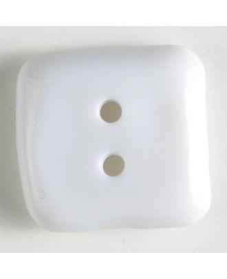 plastic button, square - Size: 20mm - Color: white - Art.No. 261098