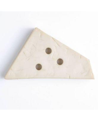 plastic button with 3 holes - Size: 70mm - Color: beige - Art.No. 450060