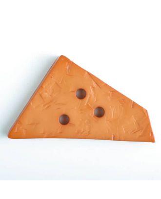 plastic button with 3 holes - Size: 70mm - Color: orange - Art.No. 450072