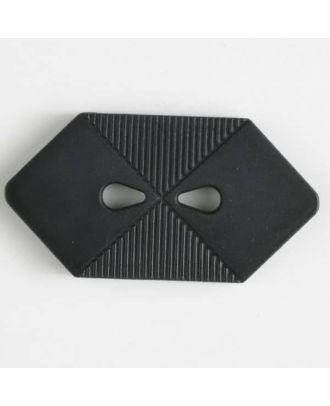 plastic button with 2 holes - Size: 38mm - Color: black - Art.No. 370399