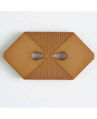 plastic button with 2 holes - Size: 38mm - Color: beige - Art.No. 376507