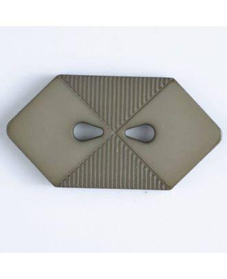 plastic button with 2 holes - Size: 38mm - Color: beige - Art.No. 376508