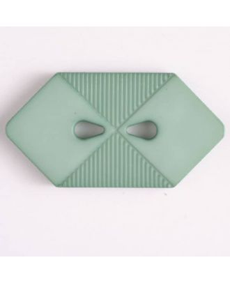 plastic button with 2 holes - Size: 38mm - Color: green - Art.No. 376510