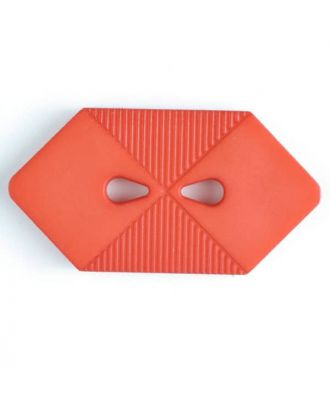 plastic button with 2 holes - Size: 38mm - Color: red - Art.No. 370401
