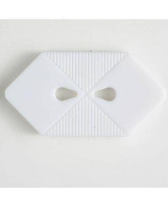 plastic button with 2 holes - Size: 38mm - Color: white - Art.No. 370398