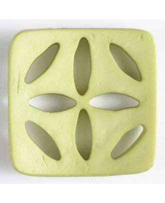 plastic button, square - Size: 60mm - Color: green - Art.No. 440074