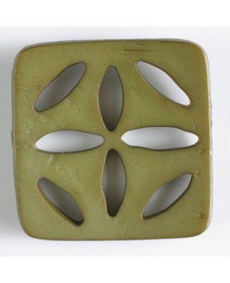 plastic button, square - Size: 60mm - Color: green - Art.No. 440075