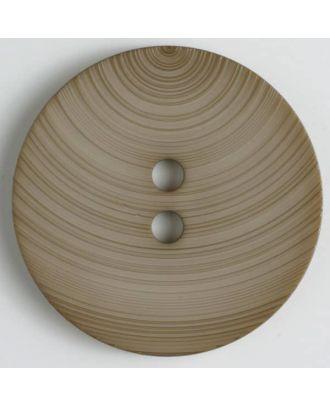 fashion button - Size: 54mm - Color: beige - Art.-Nr.: 450123