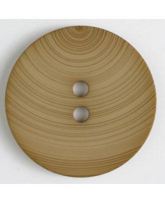 plastic button with 2 holes - Size: 54mm - Color: beige - Art.No. 450085