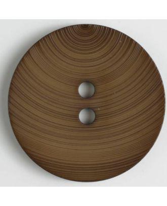 fashion button - Size: 54mm - Color: brown - Art.-Nr.: 450124