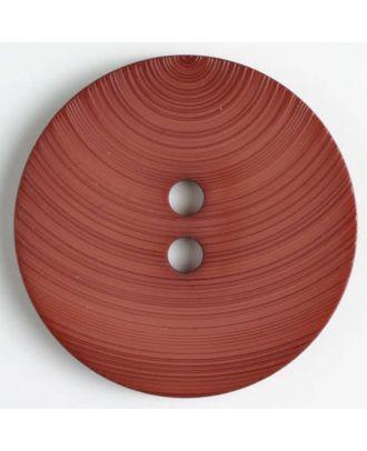 fashion button - Size: 54mm - Color: brown - Art.-Nr.: 450125