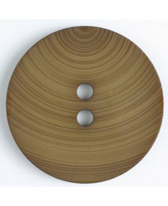 plastic button with 2 holes - Size: 54mm - Color: brown - Art.No. 450086
