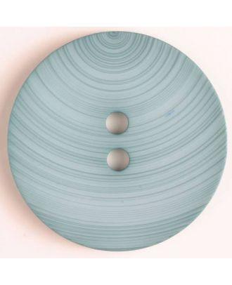 plastic button with 2 holes - Size: 54mm - Color: blue - Art.No. 450087