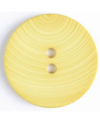 plastic button with 2 holes - Size: 54mm - Color: yellow - Art.No. 450091