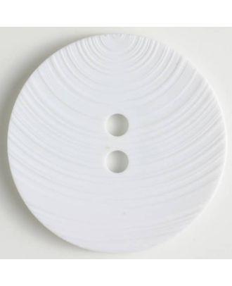 fashion button - Size: 54mm - Color: white - Art.-Nr.: 450122