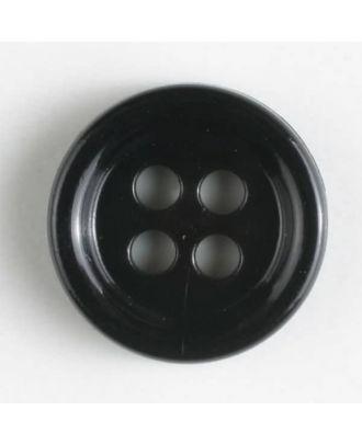 fashion button - Size: 9mm - Color: black - Art.-Nr.: 170516