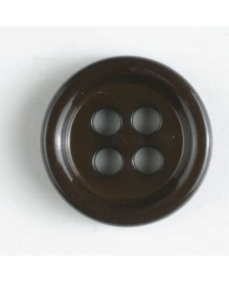 fashion button - Size: 11mm - Color: brown - Art.-Nr.: 181274