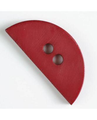 plastic button, half round - Size: 55mm - Color: wine red - Art.No. 420063