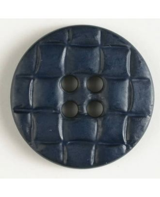 plastic button, round - Size: 20mm - Color: navy blue - Art.No. 261105
