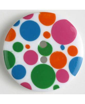 fashion button - Size: 34mm - Color: transparent - Art.-Nr.: 370457