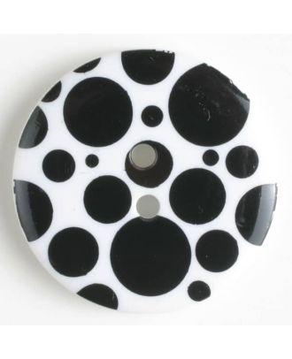 fashion button - Size: 34mm - Color: black - Art.-Nr.: 370458