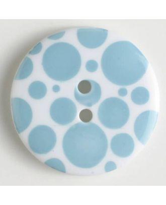 fashion button - Size: 34mm - Color: blue - Art.-Nr.: 370459