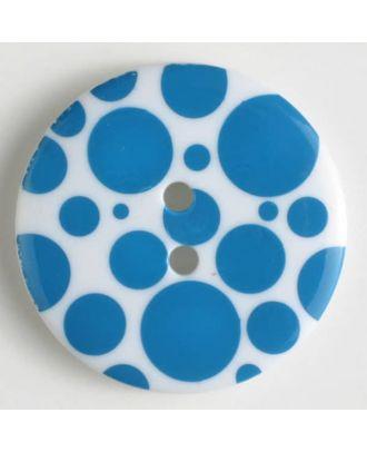 fashion button - Size: 34mm - Color: blue - Art.-Nr.: 370460
