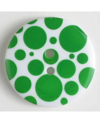 fashion button - Size: 34mm - Color: green - Art.-Nr.: 370461