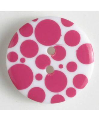 fashion button - Size: 20mm - Color: pink - Art.-Nr.: 310656