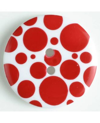 fashion button - Size: 20mm - Color: red - Art.-Nr.: 310658