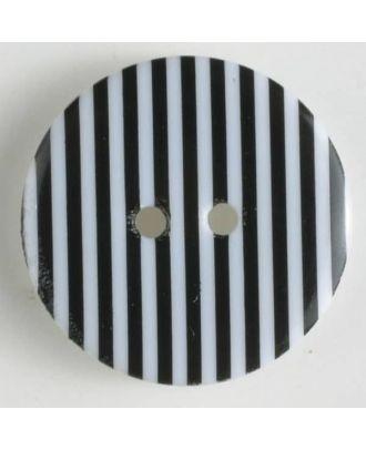 fashion button - Size: 34mm - Color: black - Art.-Nr.: 370467