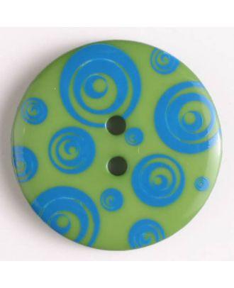 fashion button - Size: 34mm - Color: blue - Art.-Nr.: 370475