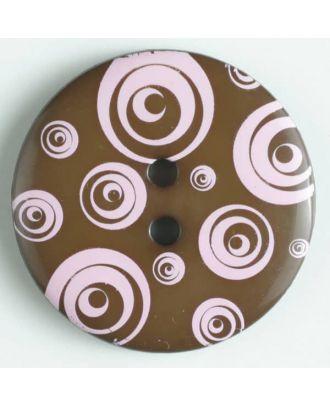 fashion button - Size: 34mm - Color: pink - Art.-Nr.: 370477