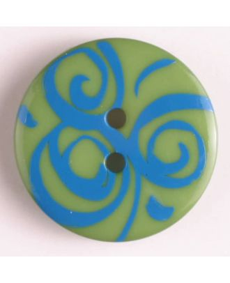 fashion button - Size: 20mm - Color: blue - Art.-Nr.: 310669