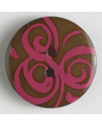 fashion button - Size: 20mm - Color: pink - Art.-Nr.: 310671