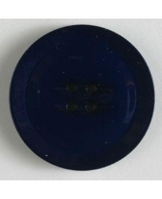 plastic button with 4 holes - Size: 38mm - Color: navy blue - Art.No. 370498