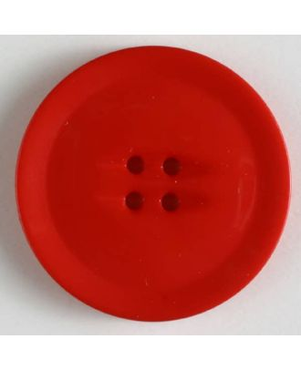plastic button with 4 holes - Size: 38mm - Color: red - Art.No. 370499