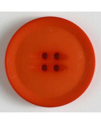 plastic button with 4 holes - Size: 38mm - Color: orange - Art.No. 372612