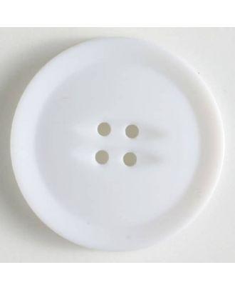 plastic button with 4 holes - Size: 38mm - Color: white - Art.No. 370496