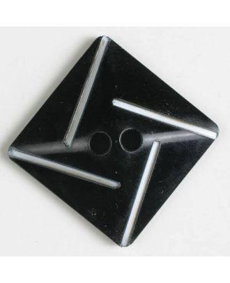 plastic button with 2 holes - Size: 34mm - Color: black - Art.No. 370486