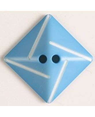 plastic button with 2 holes - Size: 34mm - Color: blue - Art.No. 370488