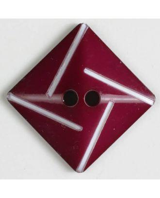 plastic button with 2 holes - Size: 34mm - Color: lilac - Art.No. 370490