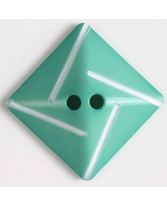 plastic button with 2 holes - Size: 34mm - Color: green - Art.No. 370491